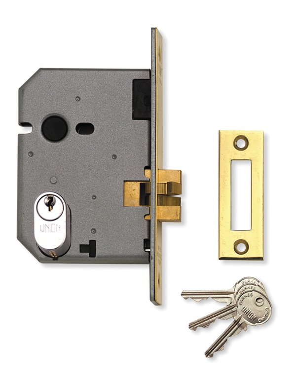 Union L2441 Oval Profile Mortice Sliding Door Lock