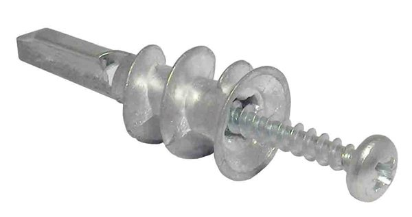 Metal Cavity Wall Plug Complete With Screw